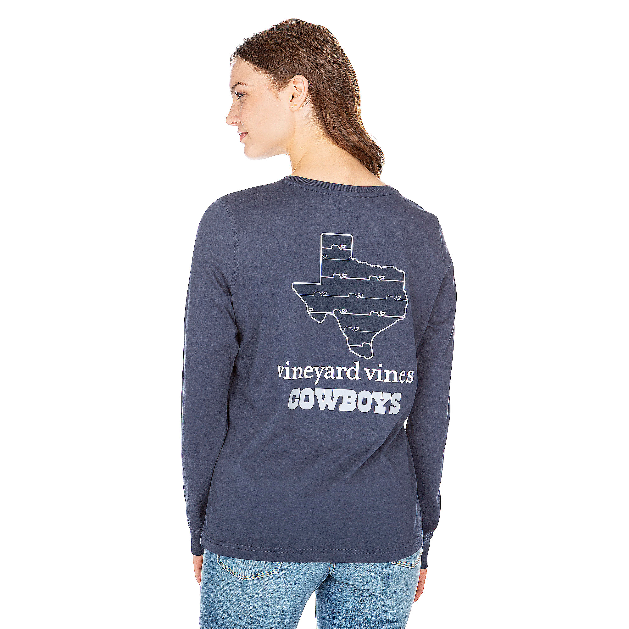 Dallas Cowboys Vineyard Vines Womens State Long Sleeve Tee