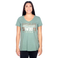 Dallas Cowboys Womens Practice Sage Tee