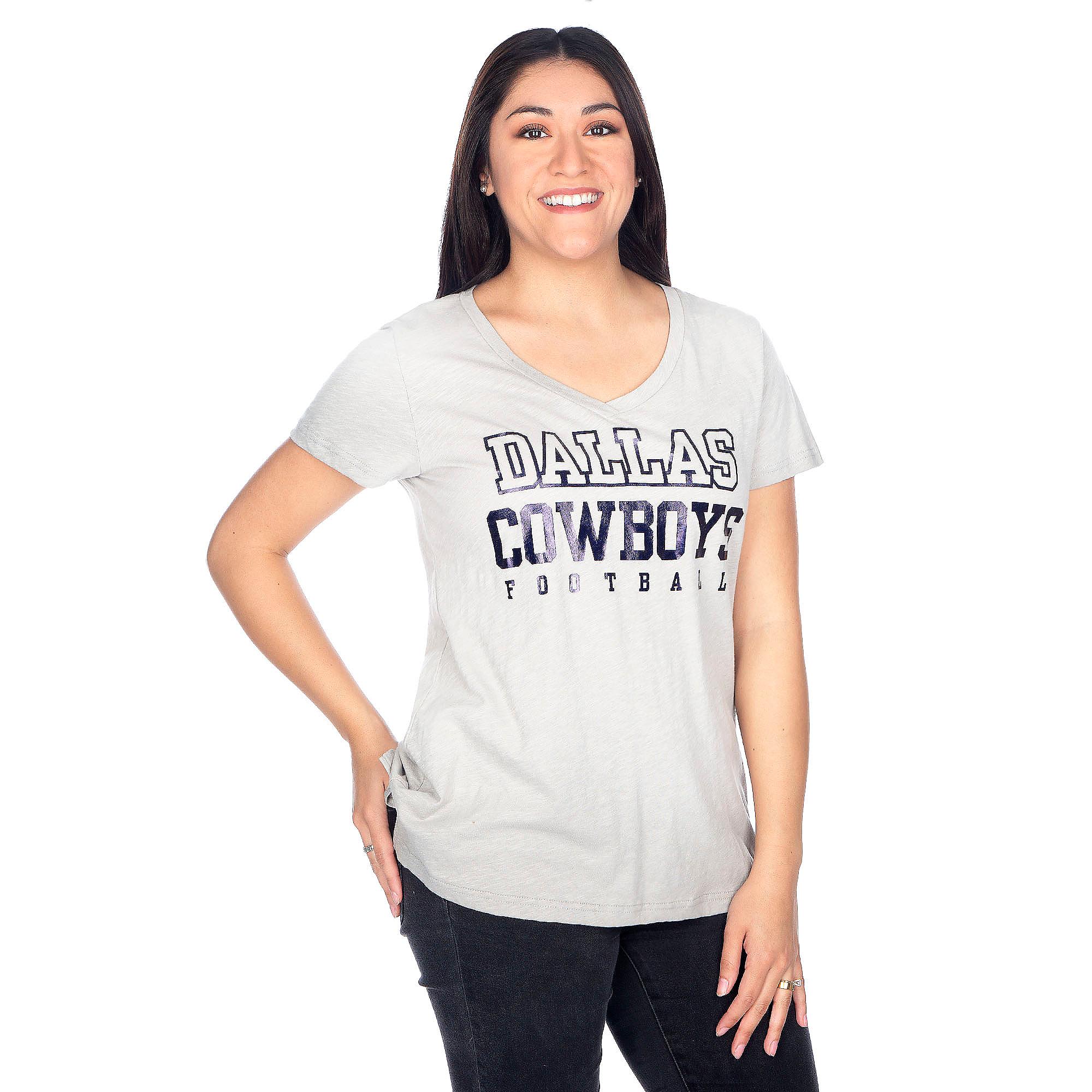 Dallas Cowboys Womens Practice Khaki Tee