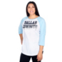 Dallas Cowboys Womens Practice Spring Blue Raglan Tee