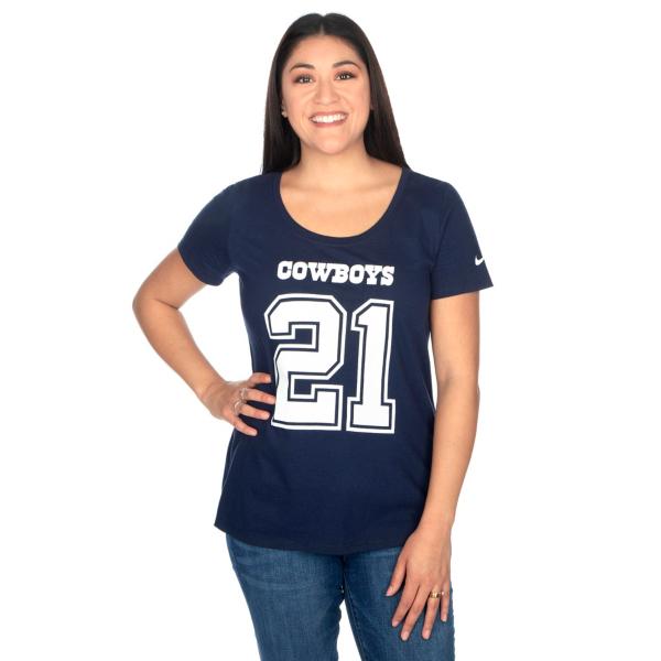 Dallas Cowboys Womens Ezekiel Elliott #21 Nike Cotton Player Pride Tee
