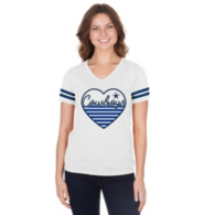 Dallas Cowboys Womens Full Heart Tee
