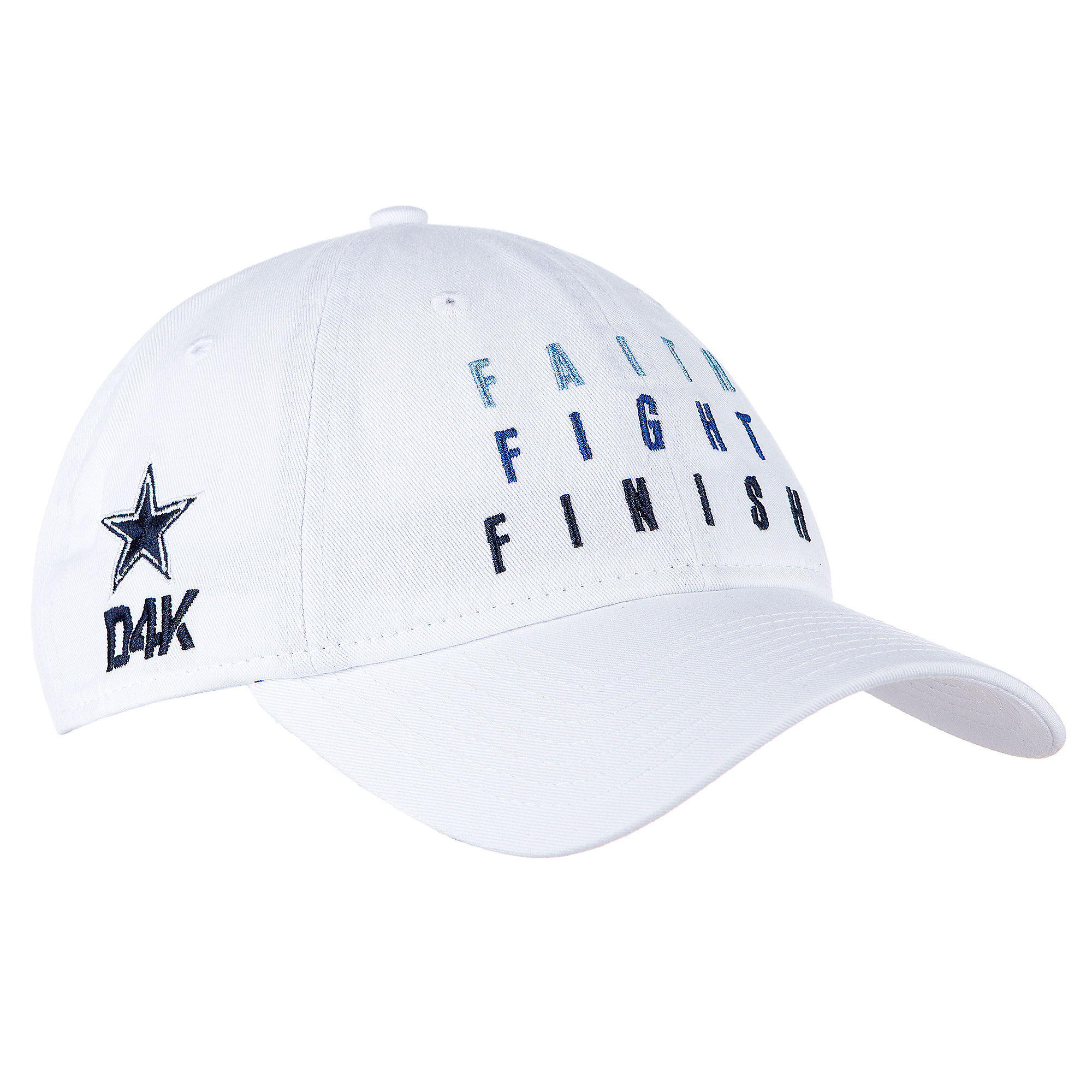 Dallas Cowboys New Era Womens White Faith Fight Finish 9Twenty Cap