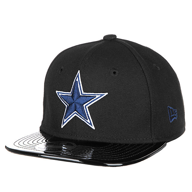 3d696f1f3bd ... get dallas cowboys new era jr solid shine 2 snap 9fifty cap 60662 2199d