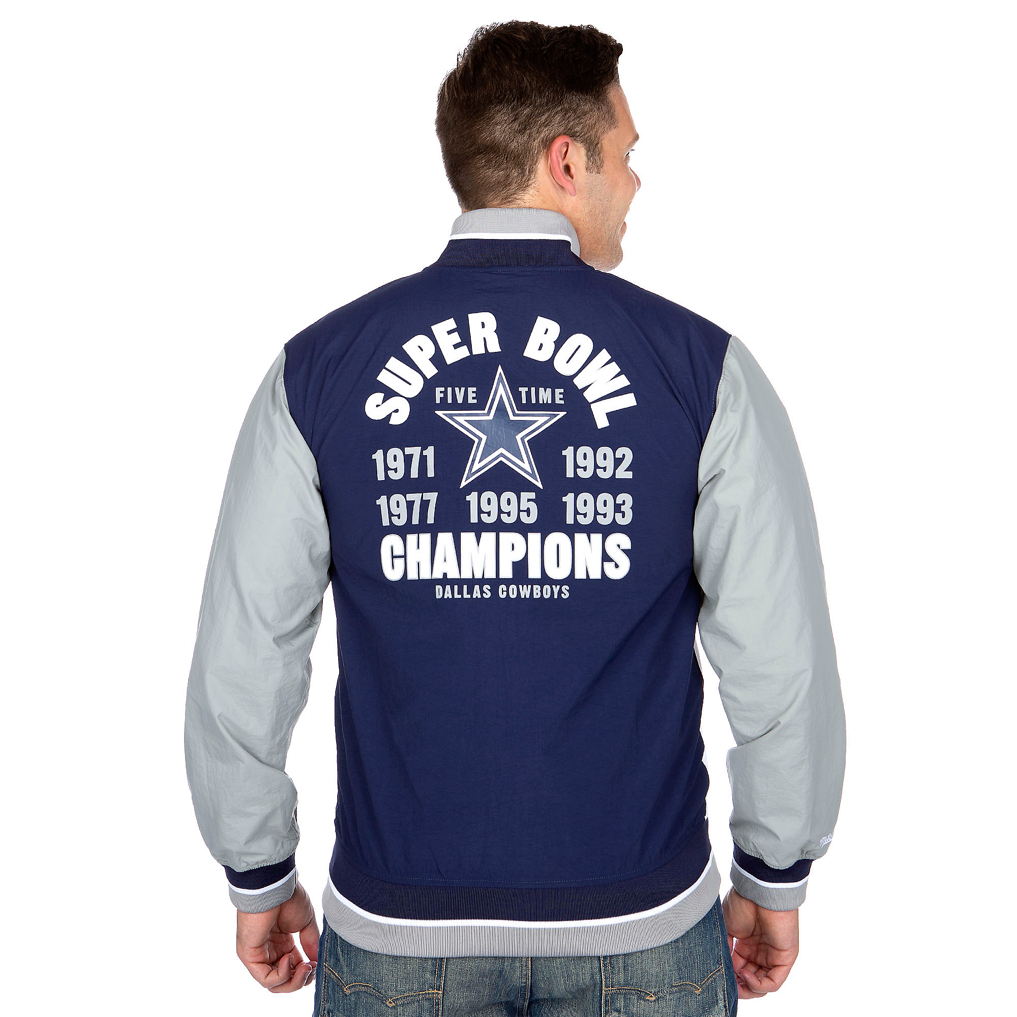 brand new 7a97e 2a5d2 Dallas Cowboys Mitchell & Ness Team History Warm Up Jacket | Dallas Cowboys  Pro Shop