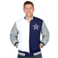 Dallas Cowboys Mitchell & Ness Team History Warm Up Jacket