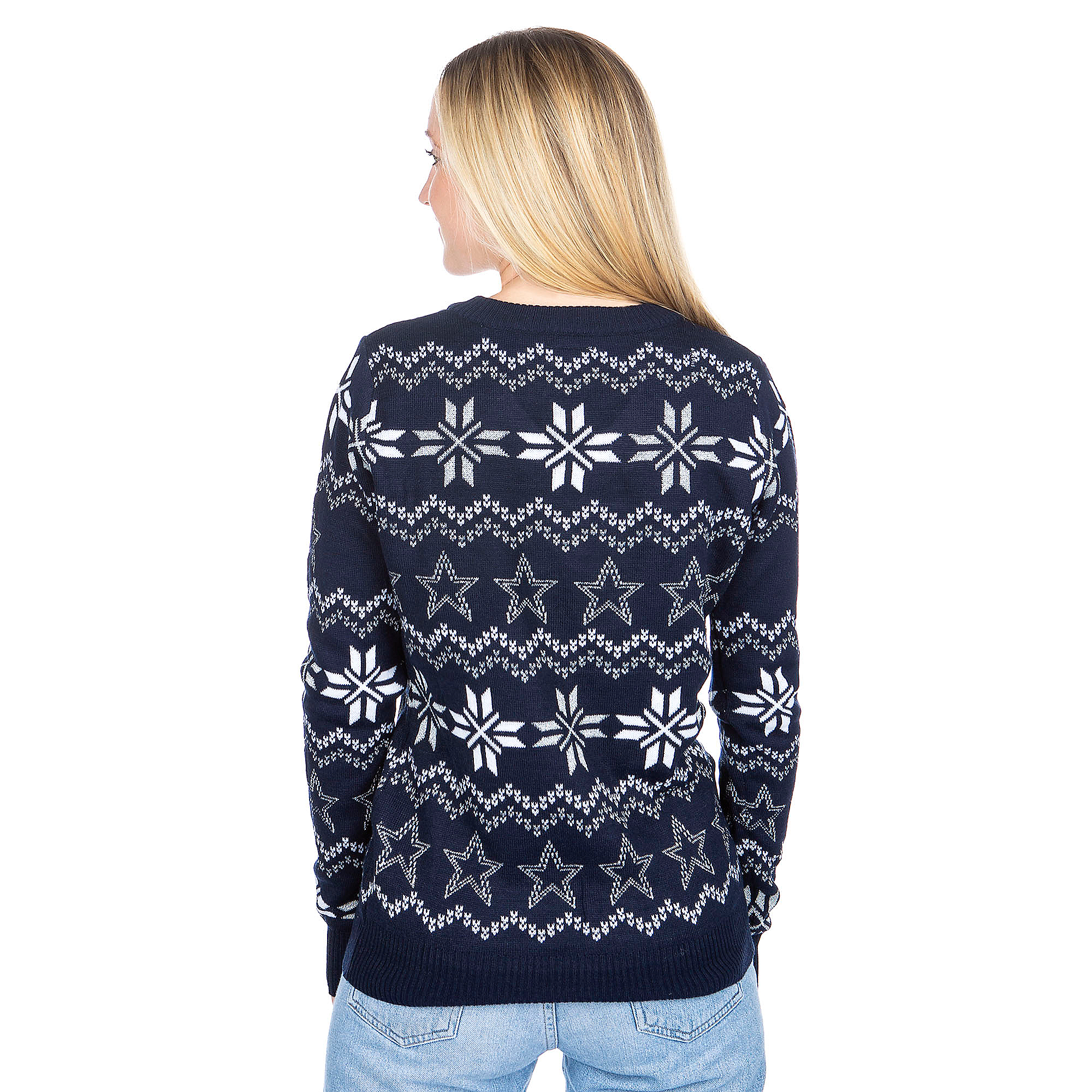 86794343026 Dallas Cowboys Womens Light Up Bluetooth Ugly Sweater
