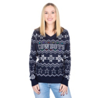 Dallas Cowboys Womens Light Up Bluetooth Ugly Sweater