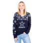 Dallas Cowboys Womens Snowflake V-Neck Ugly Sweater