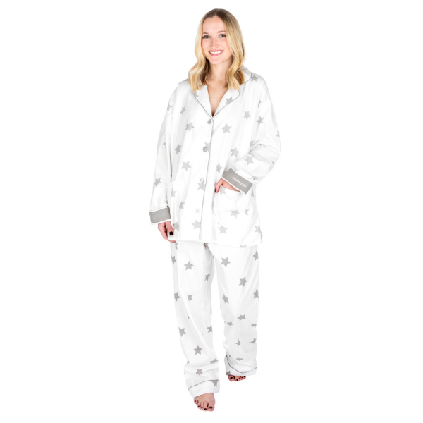 Studio P.J. Salvage Flannel Starry Eyed Pajama Set