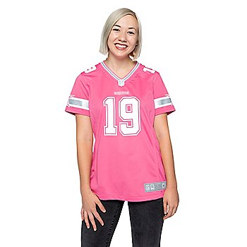 Dallas Cowboys Womens Amari Cooper #19 Pink Jersey