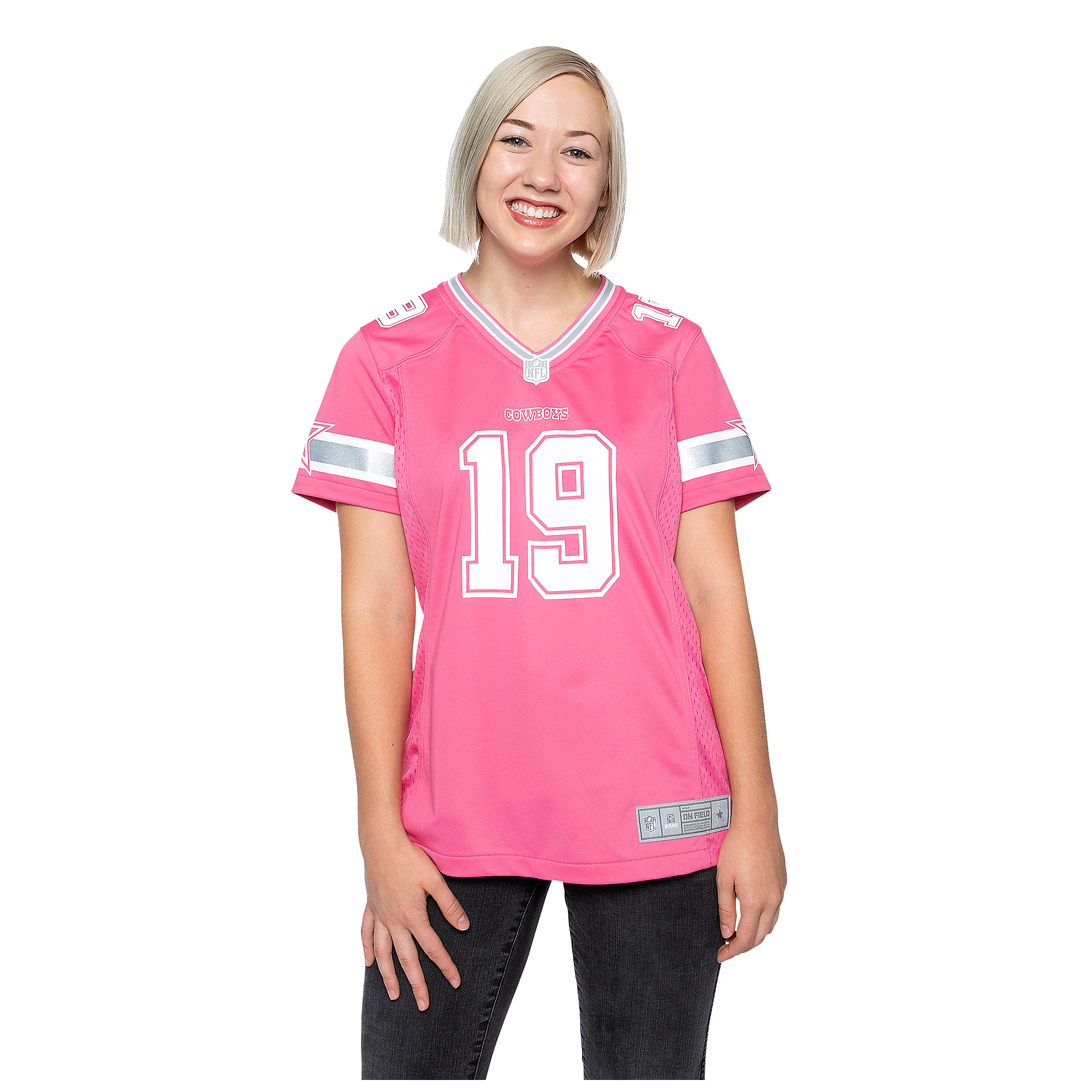 Dallas Cowboys Womens Amari Cooper #19 Pink Jersey