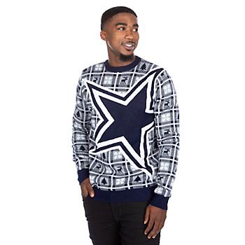 21f729e6357 Dallas Cowboys Big Logo Ugly Sweater