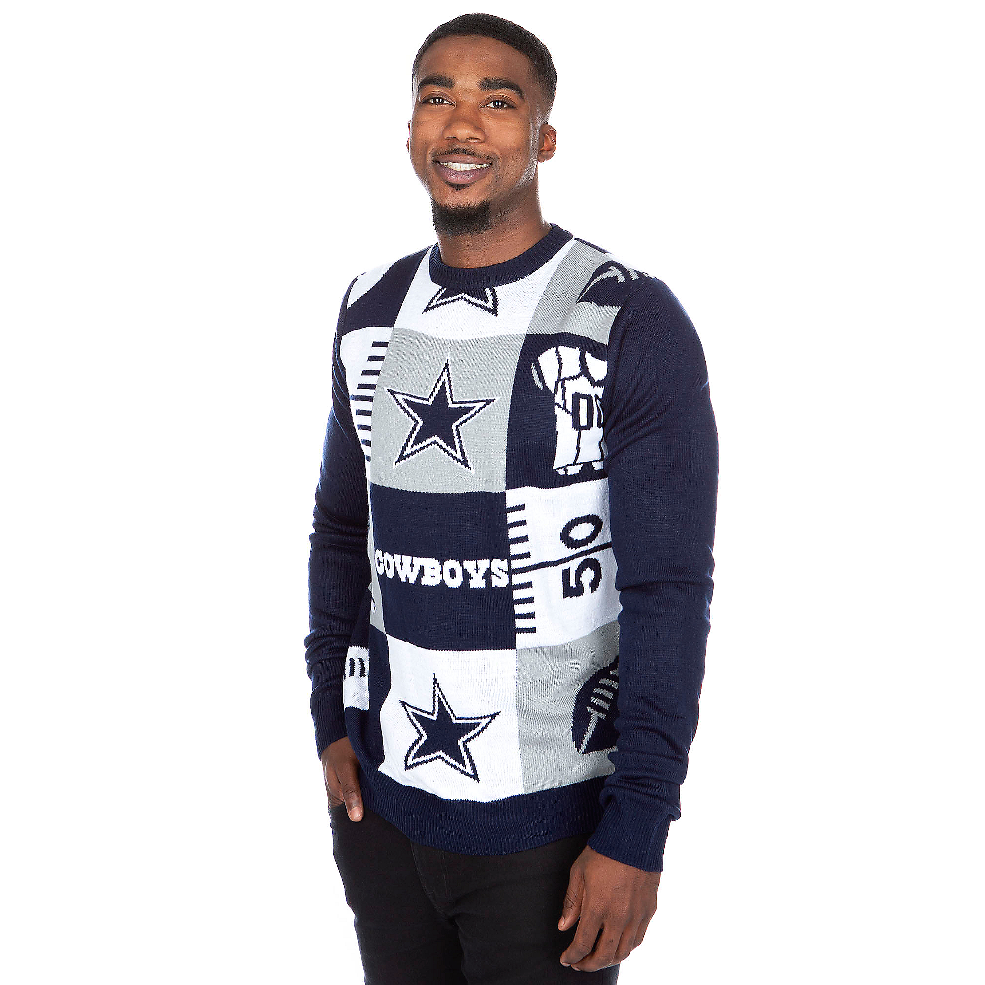 Dallas Cowboys Busy Block Ugly Sweater