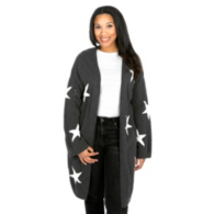 Studio Blank Paige Star Charcoal Cardigan