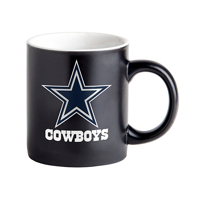 Dallas Cowboys 14oz Matte Black Mug