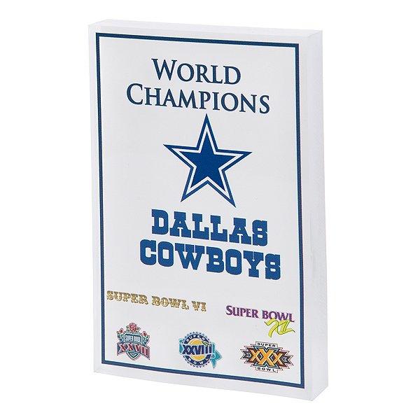 Dallas Cowboys Super Bowl Champs 3D Block