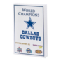 Dallas Cowboys Super Bowl Champs 3D Block