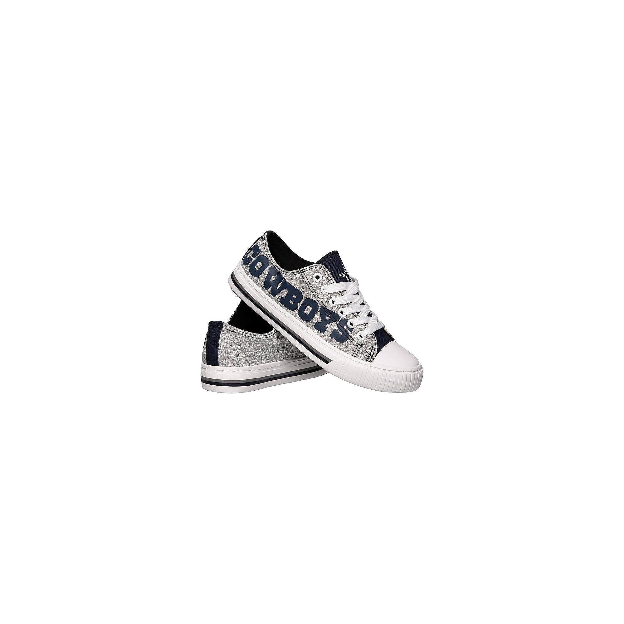 Dallas Cowboys Women's Glitter Low Top Canvas Shoes
