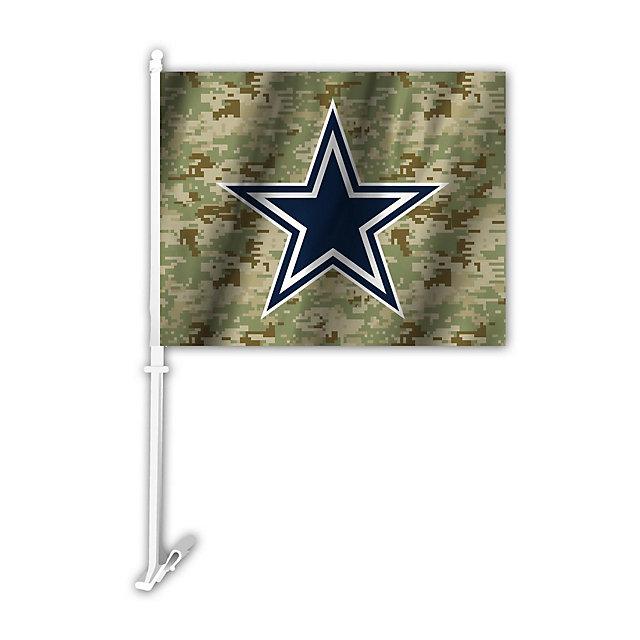 Dallas Cowboys Camo Car Flag