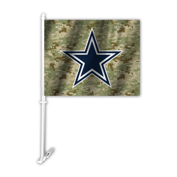 Dallas Cowboys Camo Car Flag