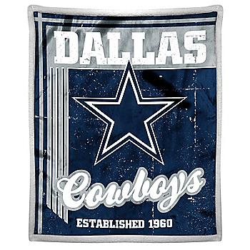 Dallas Cowboys Old School Mink Throw