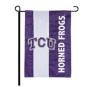 TCU Horned Frogs Embellished Garden Flag