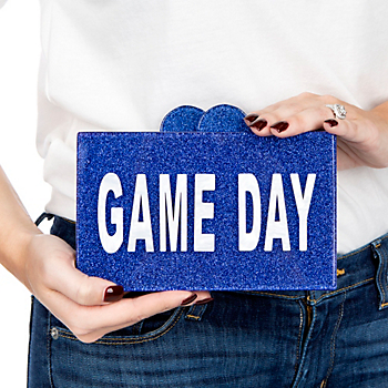 Studio Bari Lynn Gameday Acrylic Clutch