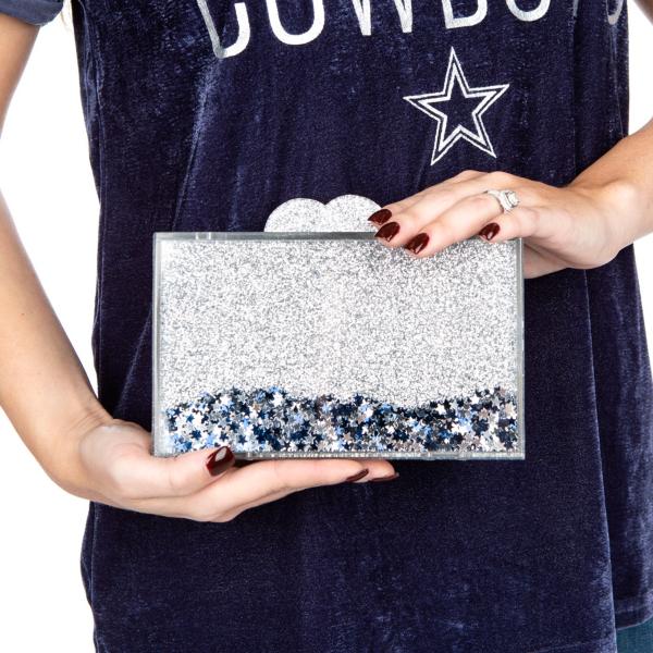 Studio Bari Lynn Confetti Acrylic Clutch