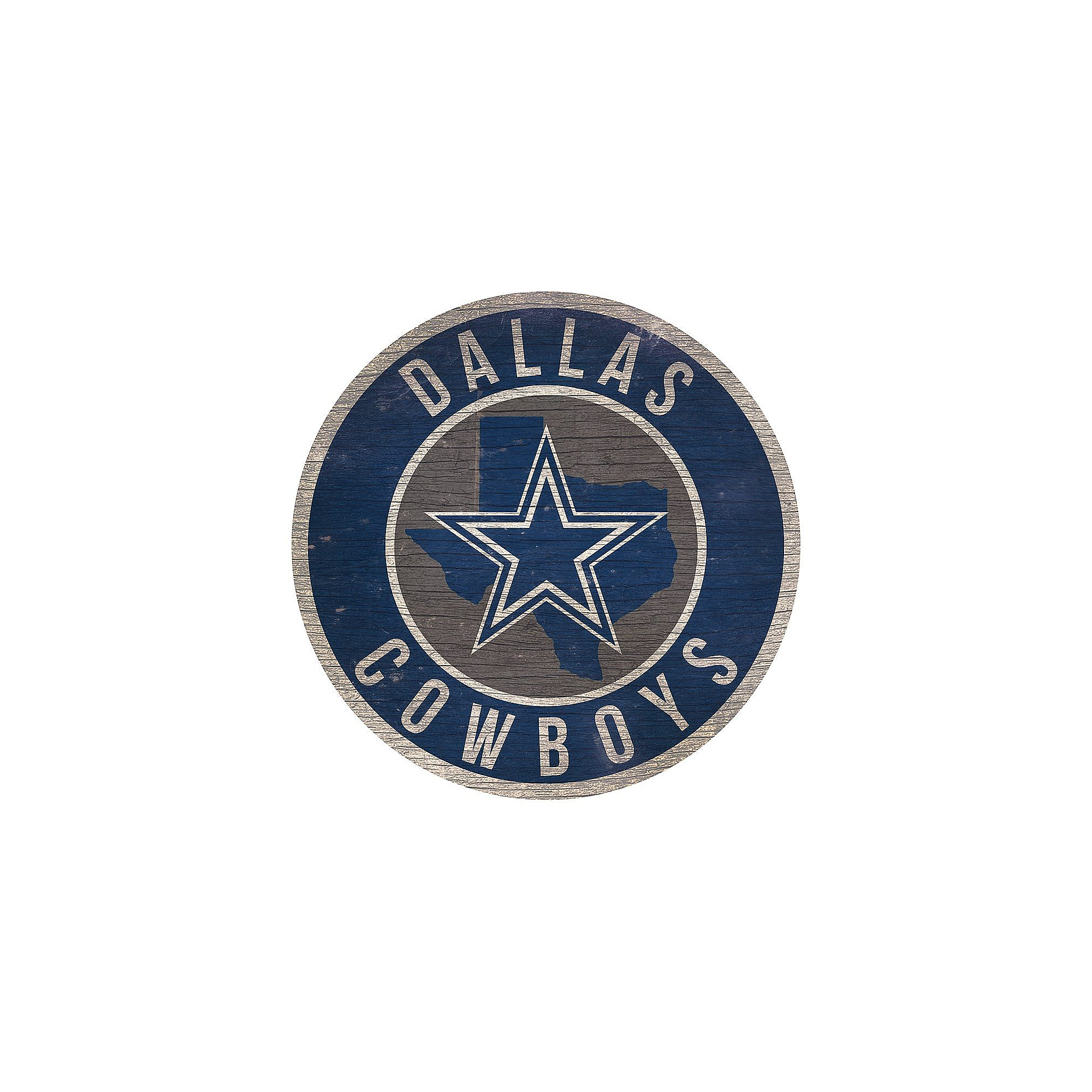 Dallas Cowboys Circle Wood Sign