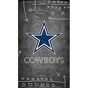 Dallas Cowboys 11x19 Chalkboard Canvas Sign