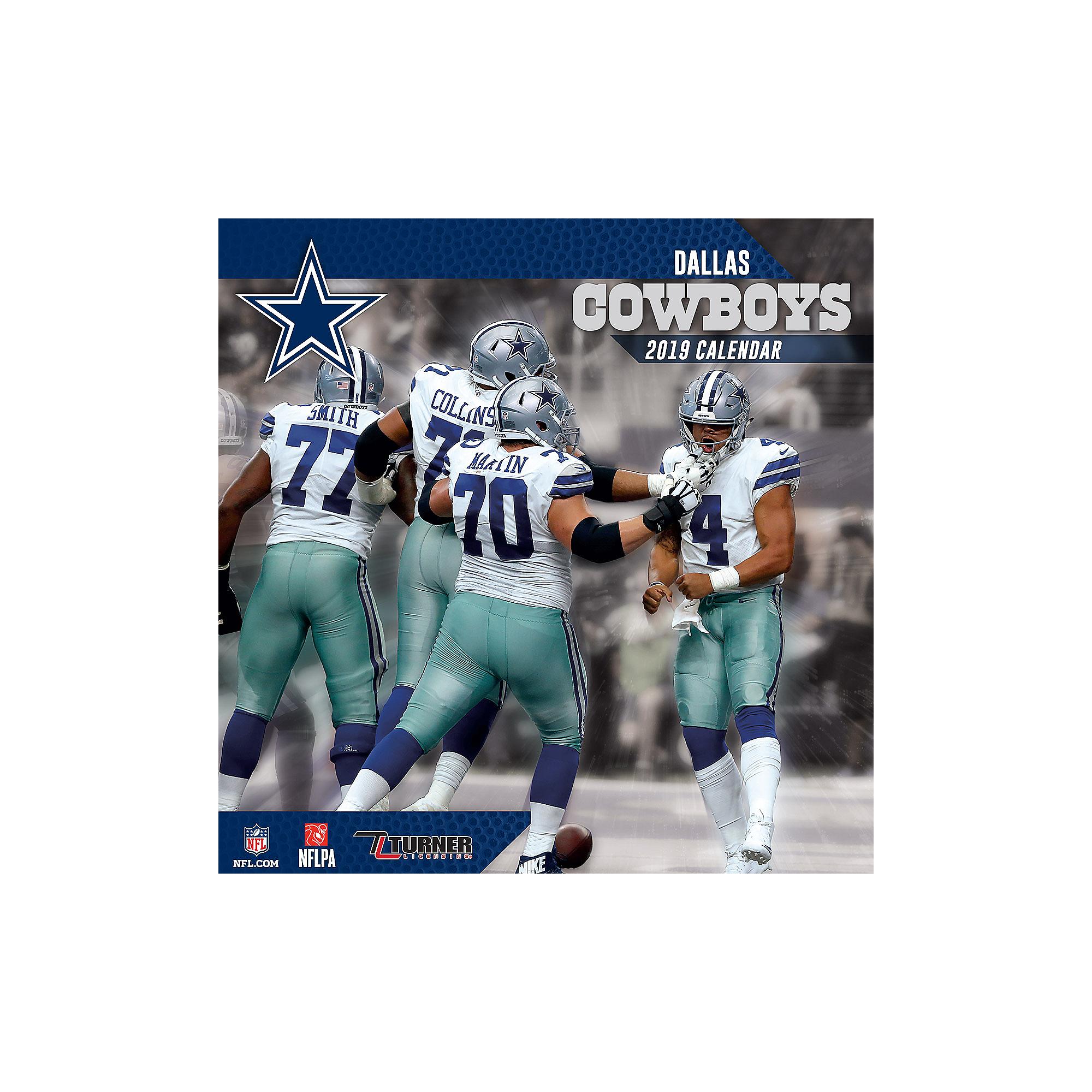2019 7x7 Dallas Cowboys Team Mini Calendar