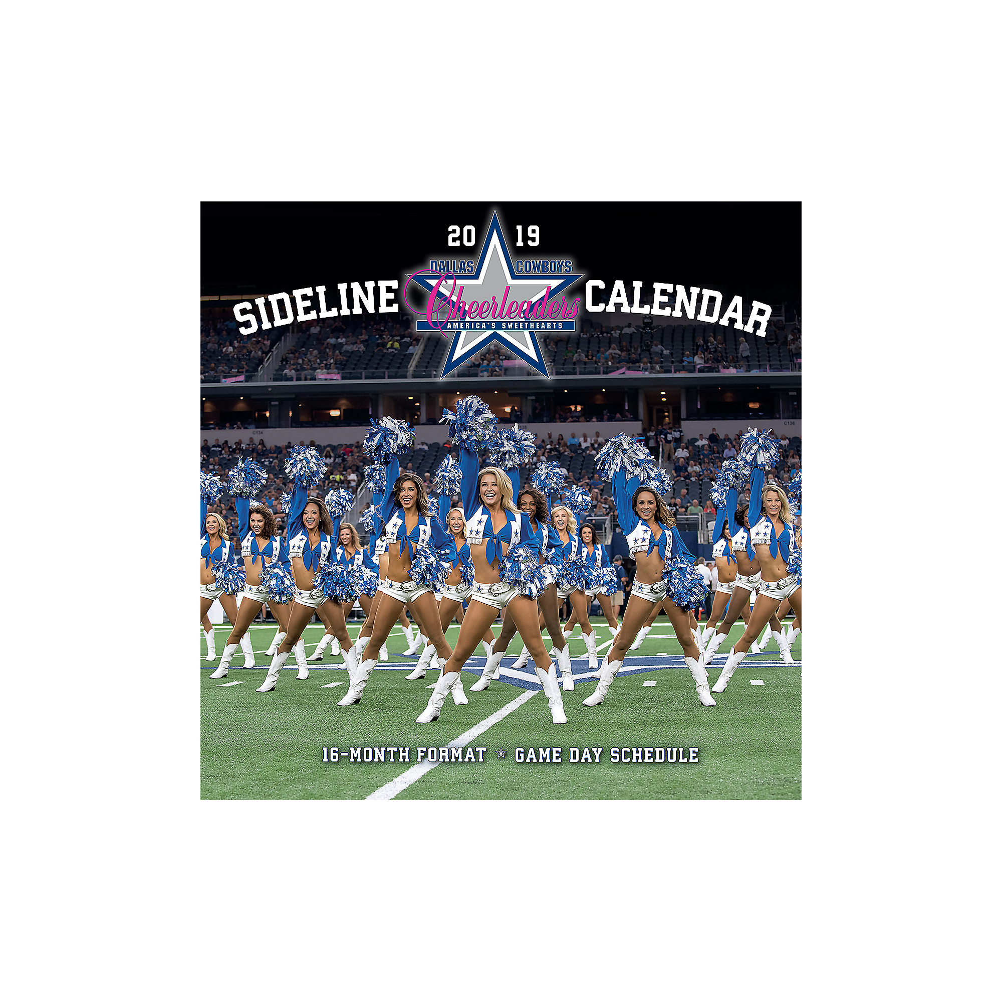 Dallas Cowboys 2019 Calendar 2019 12x12 Dallas Cowboys Cheerleaders Sideline Wall Calendar