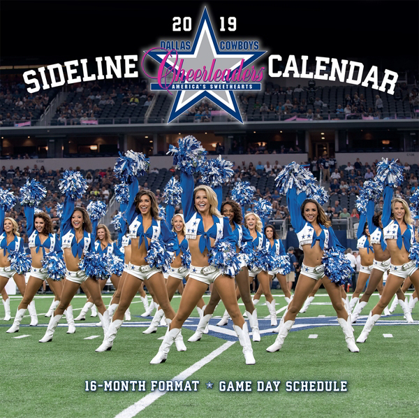 2019 12x12 Dallas Cowboys Cheerleaders Sideline Wall Calendar