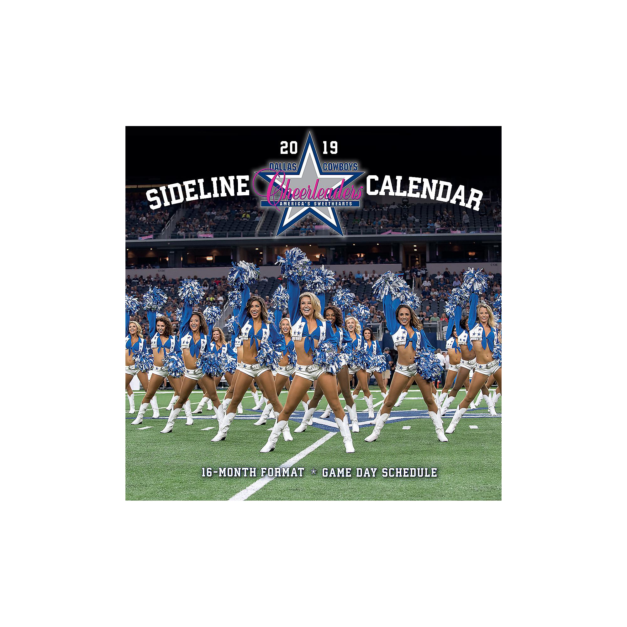 2019 12x12 Dallas Cowboys Cheerleaders Sideline Wall Calendar