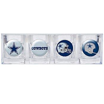 Dallas Cowboys 2oz Collectors Shot Glass 4-Piece Set
