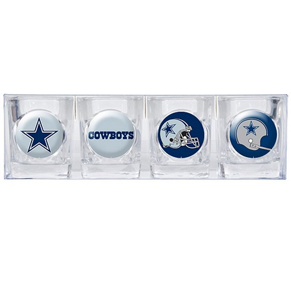 Dallas Cowboys 2oz Collectors Shot Glass 4-Piece Set