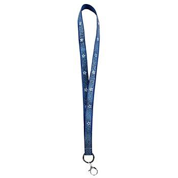 Dallas Cowboys Emblem Ring Sparkle Navy Lanyard