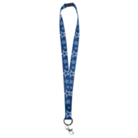 Dallas Cowboys Emblem Ring Soft Ribbon Navy Lanyard