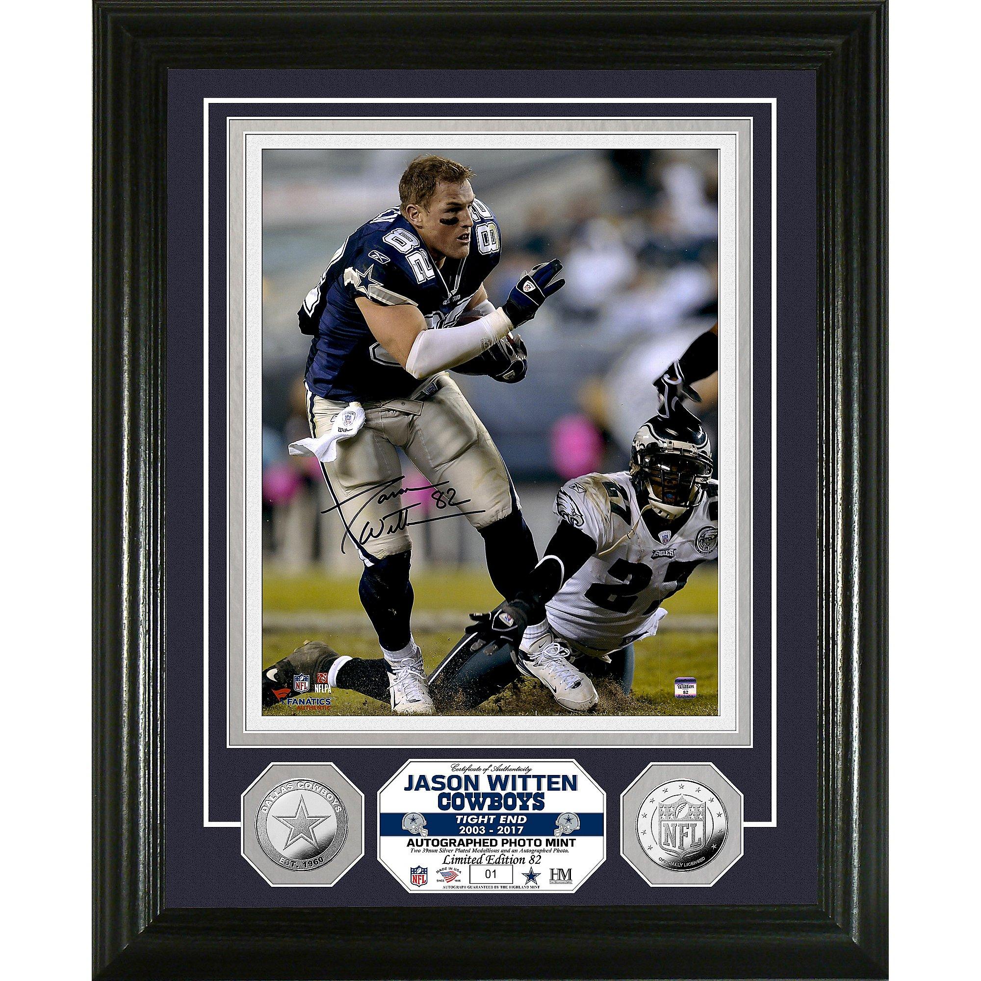 Dallas Cowboys Jason Witten Autographed Photo Mint Frame