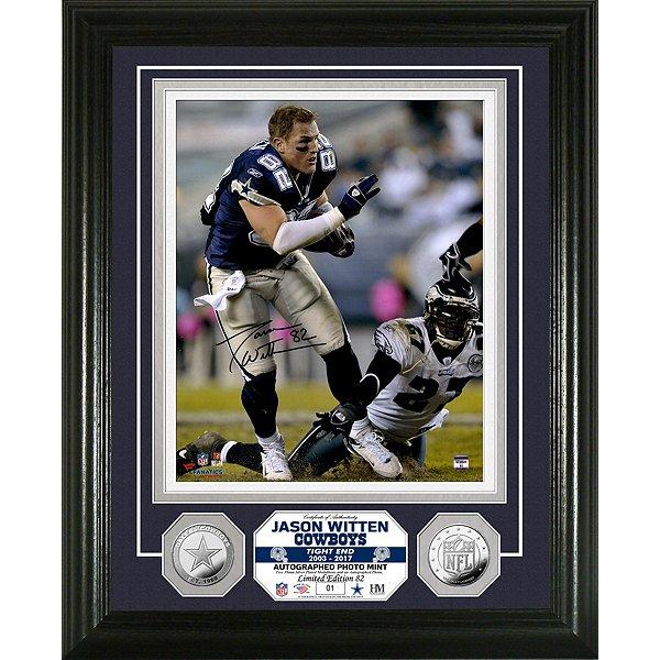 Dallas Cowboys Jason Witten Autographed 8x10 Photo Mint Frame