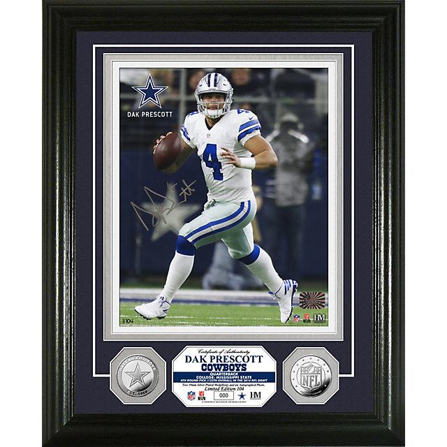 Dallas Cowboys 8x10 Dak Prescott Autographed Photo Mint Frame