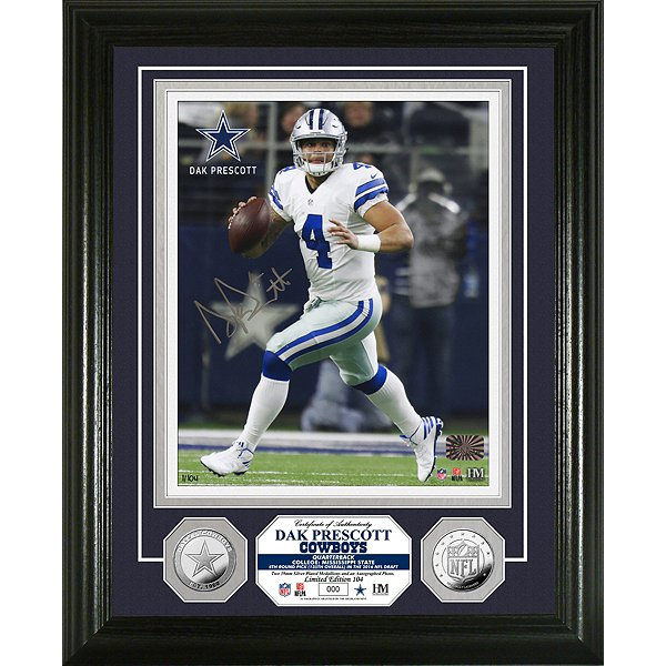 Dallas Cowboys Dak Prescott 8x10 Autographed Photo Mint