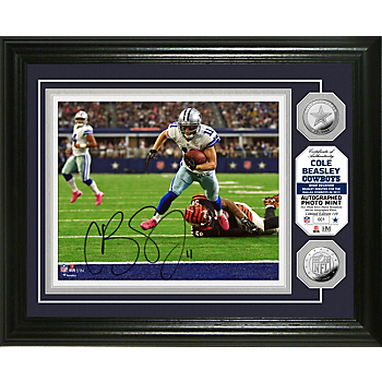 Dallas Cowboys 8x10 Cole Beasley Autographed Photo Mint Frame