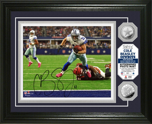 Dallas Cowboys 8x10 Cole Beasley Autographed Photo Mint Frame