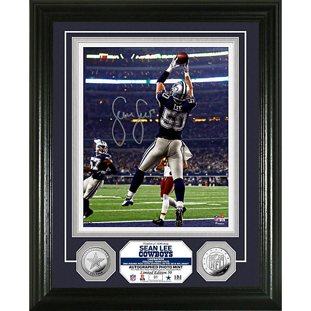 Dallas Cowboys 8x10 Sean Lee Autographed Photo Mint Frame