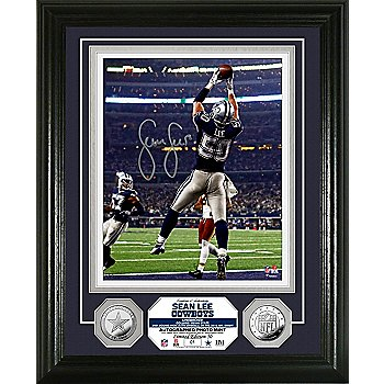 Dallas Cowboys Sean Lee Autographed 8x10 Photo Mint Frame