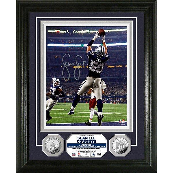 Dallas Cowboys Sean Lee Autographed 8x10 Photo Mint Frame