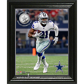 Dallas Cowboys Ezekiel Elliott Elite Series Photo Mint Frame