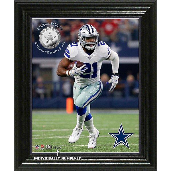 Dallas Cowboys Ezekiel Elliott Elite Series Photo Mint Frame